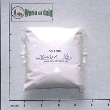 SELENITE 'A' White Powder 1/2 lb bulk Satin Spar, trailings from cutting