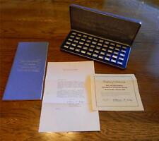Sterling Silver Int'l Locomotive Miniature Collection Cert of Auth Complete
