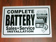 Auto Repair Shop Sign: Battery Sales & Service