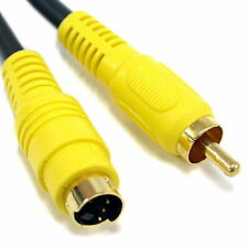 5M 15FT S-VIDEO TO RCA  CABLE NEW DVD CORD SVHS S-VHS M/M TV 4PIN GOLD MALE