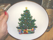 Home Interiors 1987 First Edition Collector Christmas Plate 9 1/4'' Gold Trim