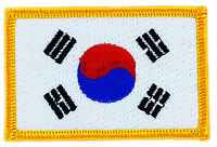 FLAG PATCH PATCHES South Korea korean IRON ON COUNTRY EMBROIDERED SMALL