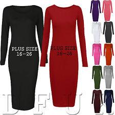 Unbranded Plus Size Crew Neck Dresses for Women