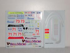 DECAL FERRARI F430 GT2 SEBRING 2008 #71 #73 TAFEL RACING  BBR 1/18 COD AB18017