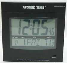 NEW Time Tech Digital LED Wall Clock Thermostat Day/Date Temperature Large Font