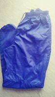 Vtg 90s Nike Men's Grey Tag Indigo Blue Nylon Zip Track Pants Joggers Size L