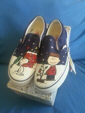 Vans Classic Slip-On Peanuts Charlie Brown Christmas sz 13.5 youth. NWB