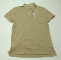 JCPenney Mens Size Medium Oatmeal Colored Mesh Polo Shirt New