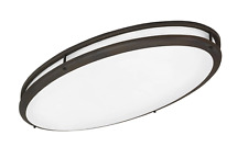 AFX Contemporary Oval 2 Light Flush Mount in Oil-rubbed Bronze CSV3232WARBT