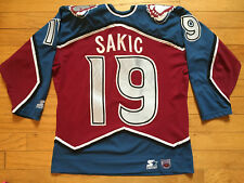 VINTAGE JOE SAKIC COLORADO AVALANCHE STARTER NHL HOCKEY JERSEY MEN'S MEDIUM