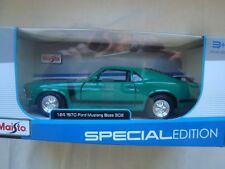Maisto Ford Mustang Boss 302 1970 Verde 1/24