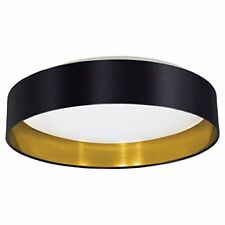 Eglo 31622 Maserlo/plafonnier/plastique Acier Blanc Tissu Noir Or