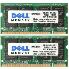 2GB 2x1GB PC2700 333MHz 200pin SoDimm Memory For Dell Latitude D500 D600 D800