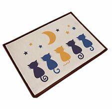 Indoor Hello Doormat Inside Outside Front Door Mat Carpet Floor Rug Five Cats