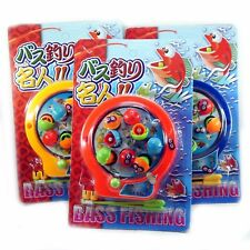1 x Pocket Travel Wind Up Magnetic Fishing Game with 2 Poles Kids Fun Japan Toy