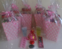 Sweet Sixteen 16 Luxury Pre Filled Pink and White Polka Dot Party Treat Boxes