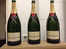 3x Moët Chandon 1,5l Magnum Champagner Flaschen leer Deko Shisha Lampe