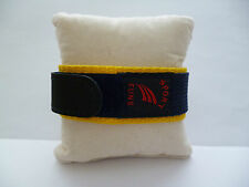 20mm Yellow, Black and Navy Blue  Italian Unisex Velcro Watch Strap UK Supplier