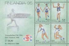 Finland 1994 MNH Sheet - European Championships in Athletics - Finlandia 95