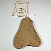 Brown Bag Cookie Art 1985 Shortbread Cookie Mold Raggedy Ann With Recipe Book