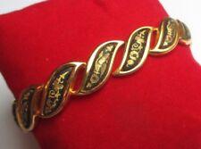 bracelet rigide ovale s'ouvrant bijou vintage or de Tolède finement gravés 3071