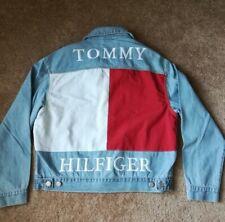 NEW Tommy Hilfiger Big Flag Logo Denim Jean Jacket