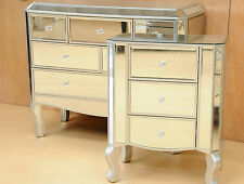 Palazzo Premium Mirrored Furniture Package 6 drawer chest plus 3 Drawer Bedside