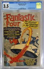 FANTASTIC FOUR # 3 - CGC 3.5 - FANTASTIC FOUR don costumes and get headquarters.