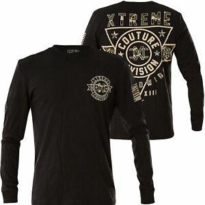 "AFFLICTION ""CAMO FORCE"" Xtreme Couture Mens XXL T shirt NEW 2XL UFC L/S tee"