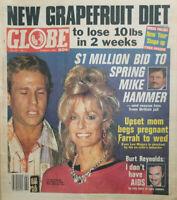 Globe Magazine January 8 1985 - Farrah Fawcett & Ryan O'Neal - Mike Hammer