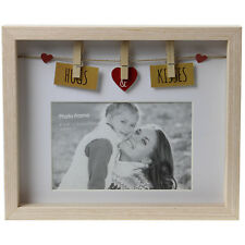 6x4 Inch Wood Wooden Box Photo Picture Image Poster Frame Home Display With Pegs
