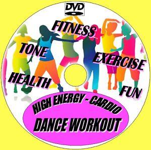 High Energy Cardio Dance Workout Fun Fitness Aerobic Keep Fit Burn Calories DVD