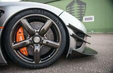 2x Radlauf Verbreiterung CARBON Lack Kotflügelverbreiterung für Nissan Micra II