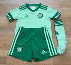 Adidas CELTIC FC 2020-21 Kids Football Away Kit Size 3-4 Years, Pale Green