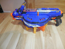 NERF N Strike Elite Hail Fire Motorized Dart Gun & 8 Clips Magazines - Working