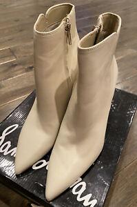 Sam Edelman Women's Raelle Ankle Boot Ivory Size 9.5 FREE Shipping