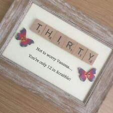 Scrabble Frame Birthday Gift / Present 30th 40th 50th 60th 70th 80th 90th 100th