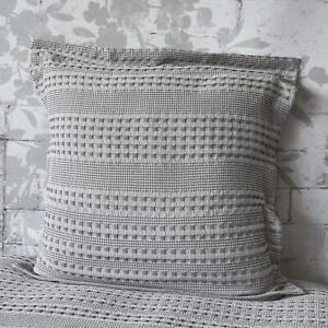 Lush Waffle Silver European Pillowcase