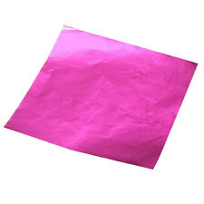 100pcs Square Candy Chocolate Paper Aluminum Foil Wrappers Pink AD