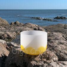 """8"""" E Solar Yellow Plexus Lotus Quartz Crystal Singing Bowl Meditation Chakra"""