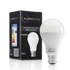 AURAGLOW 16w LED B22 Bayonet Light Bulb, Warm White, 3000k, 100w EQV - Dimmable