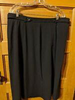 CJ Banks Christopher Plus Womens Skirt Size 18W Black Aline Dress Career