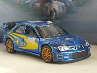 SUBARU IMPREZA WRC 2007 1.36 DIECAST MODEL PERSONALISED PLATES NEW BOYS TOYS