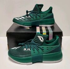 Adidas Men Dame 3 BY3194 Green/White Basketball Shoes NBA Size 7 Sneakers