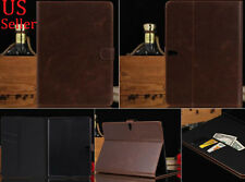 Genuine Leather Flip Wallet Stand Case Cover For Samsung Galaxy Tab S 10.5 T800