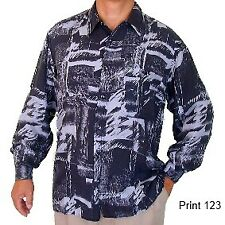 """New 100% Silk Shirts for Men S,M, L, Brand Name """"SURPRISE"""" NWT Print #123"""