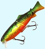 """Joe Bucher 8"""" Swim'n Raider Soft Body Swimbait Musky Pike Firetiger #528-90855"""