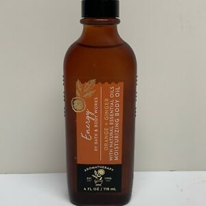 Bath & Body Works Aromatherapy Energy Orange Ginger Moisturizing Massage Oil 4oz