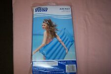 """Open Water Swim Air Mat, 72"""" x 27"""" New in Pack Color: Blue Safety Valves, Vinyl"""