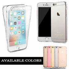 New ShockProof 360 Hybrid Silicone Front Back Gel Case Cover for Various Phones
